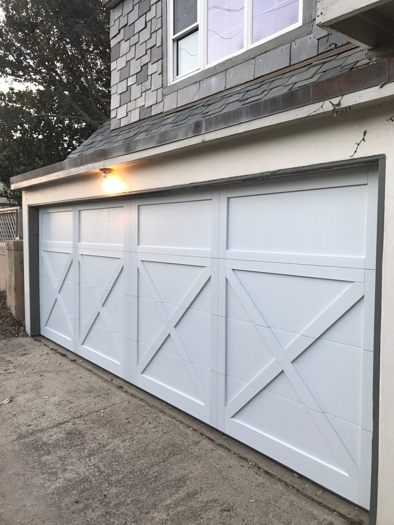 Steel Overlay Garage Door Installed in Houston