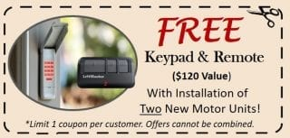 Houston Garage Door Opener Coupon