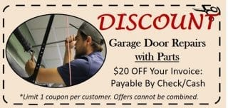 Houston Garage Door Repair Coupon
