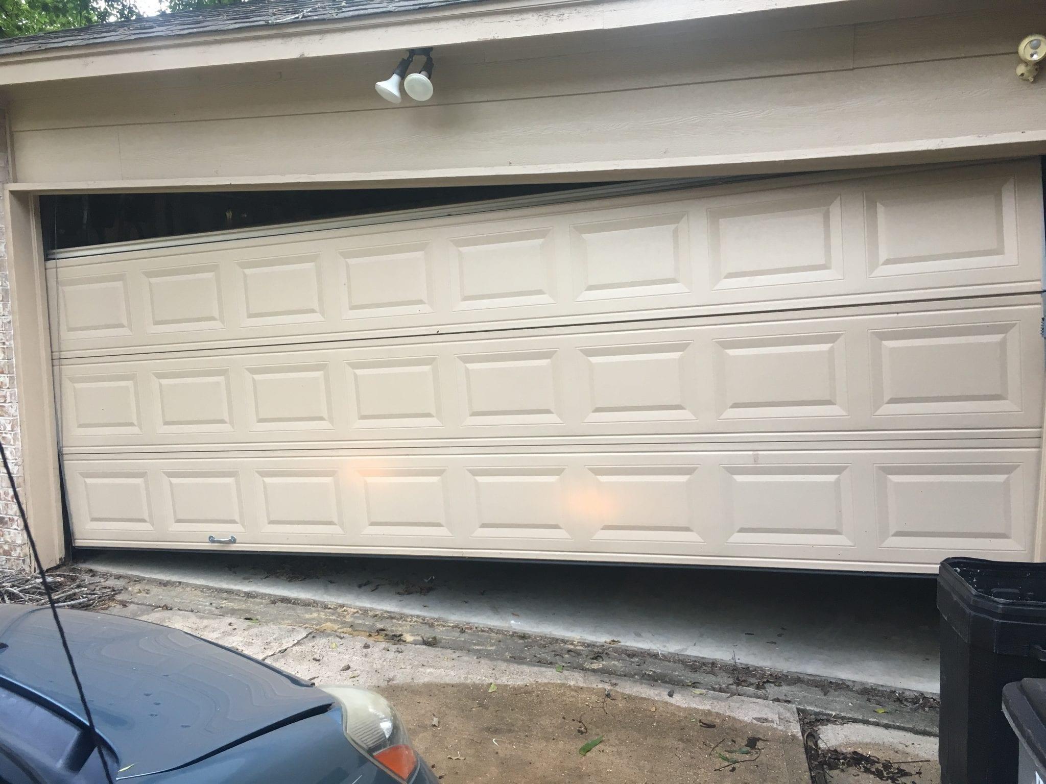 Crooked, Jammed Garage Door