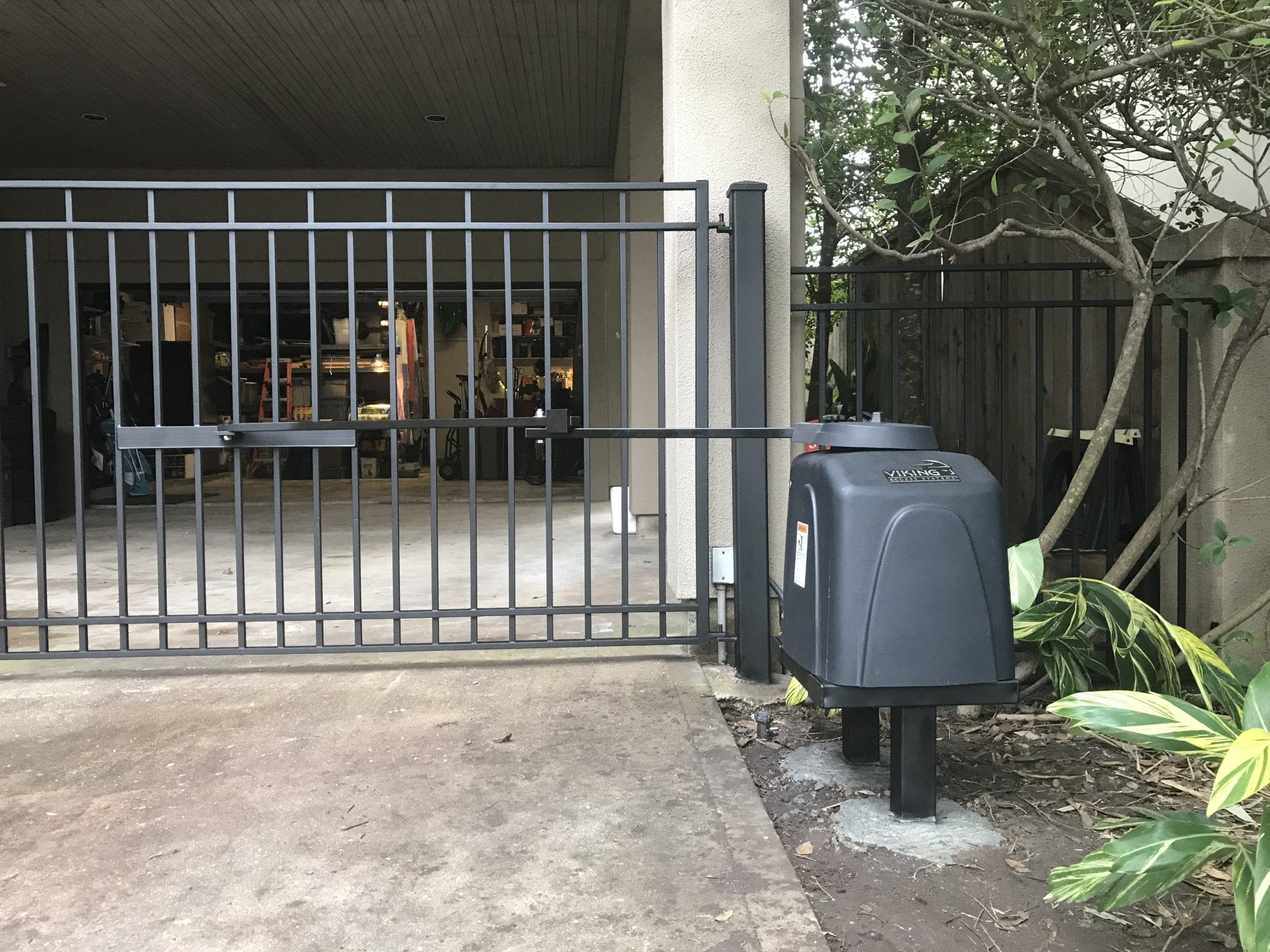 Fixed driveway gate in Houston