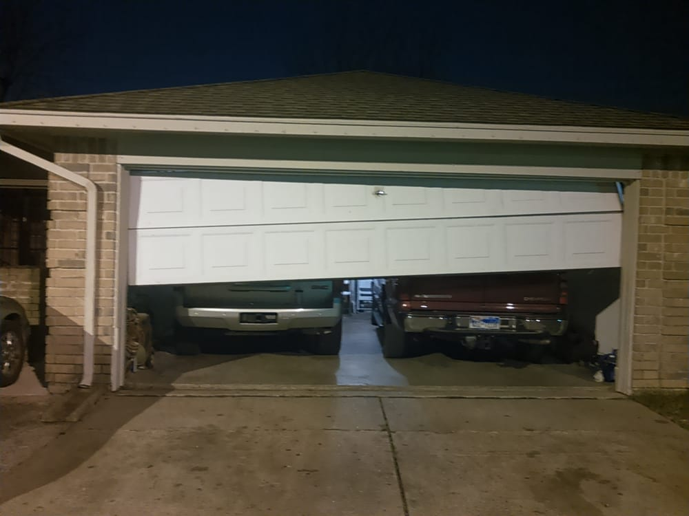 Off Track Garage Door Repair In Houston Crooked Garage