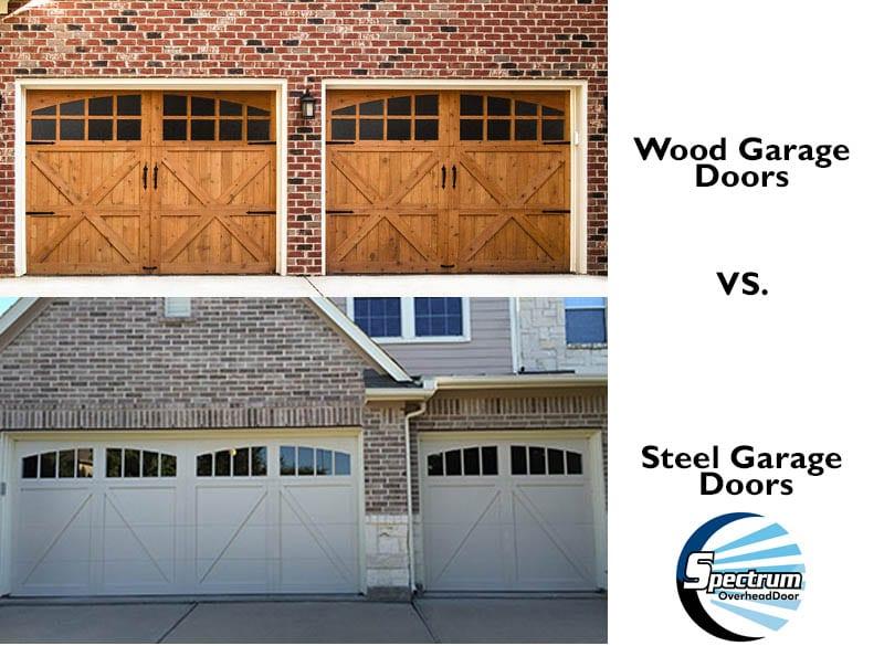 Steel Garage Doors Vs Wooden Garage Doors