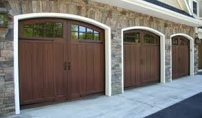 Wood overlay garage door installation