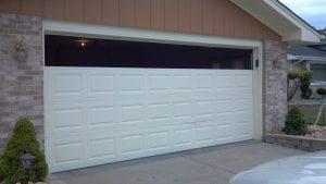 Windows on a garage door