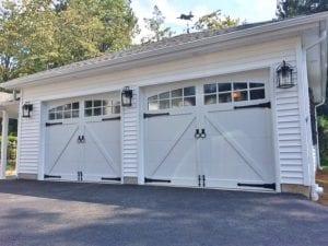 overlay carriage style garage door