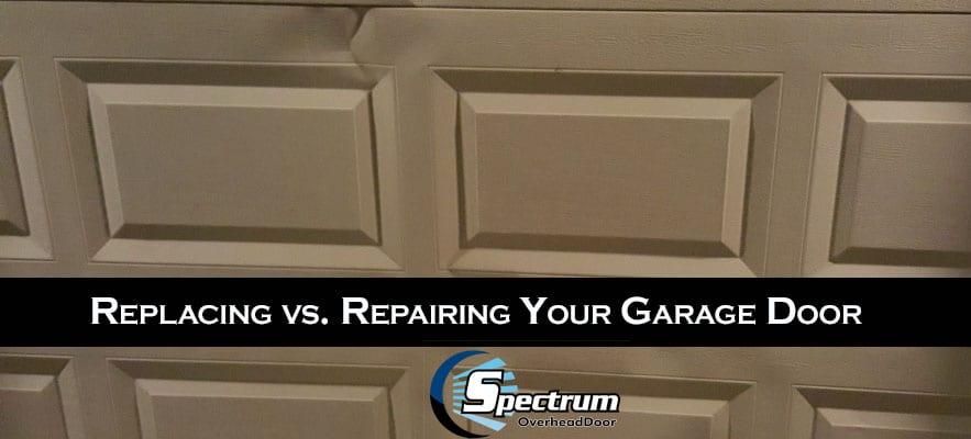 Replacing vs. Repairing Your Garage Door