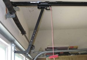 Garage door safety rope