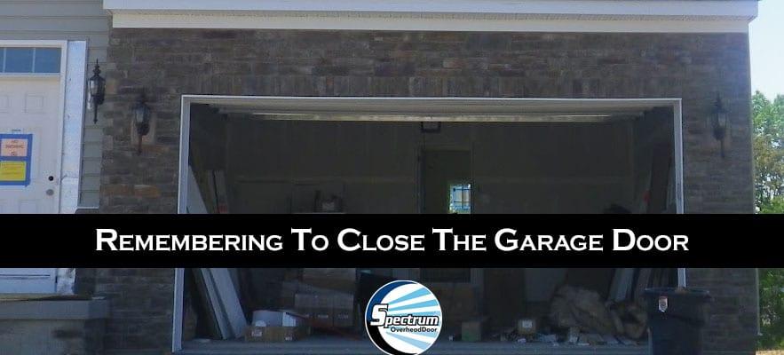 Remembering to close the garage door