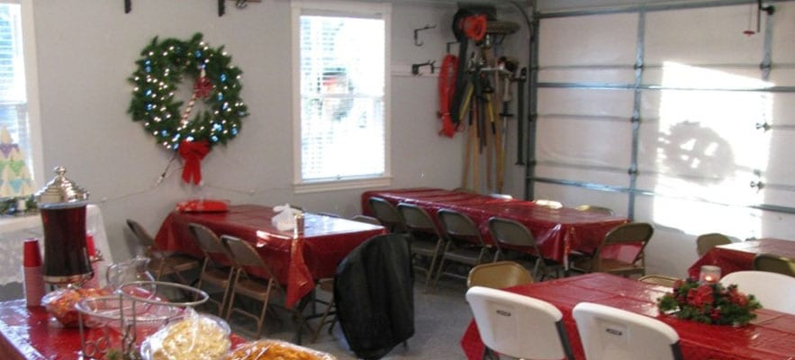 Turn Your Garage Into A Holiday Party Space